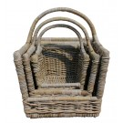Open front handle basket