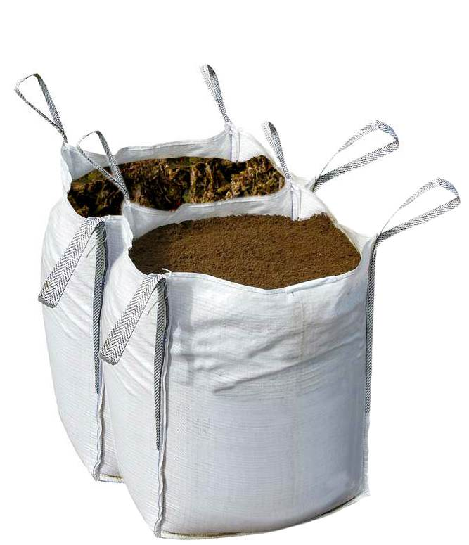 Buy a bulk bag of top soil and organic mushroom compost at for Bags of topsoil